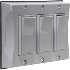 Bell 3-Gang Vertical Mount Gray Weatherproof Outdoor Rocker Switch Cover Image 1
