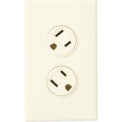 360 Electrical 15A Ivory Rotating 5-15R Duplex Outlet