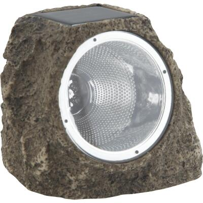 Outdoor Expressions Solar Plastic Path Rock LED Light