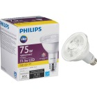 Philips 75W Equivalent Bright White PAR30 Long Neck Medium Dimmable LED Floodlight Light Bulb with Wide Beam Image 1