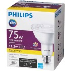 Philips 75W Equivalent Bright White PAR30 Long Neck Medium Dimmable LED Floodlight Light Bulb with Wide Beam Image 5