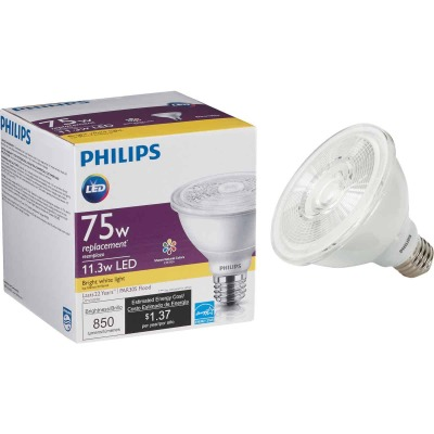 Philips 75W Equivalent Bright White PAR30 Short Neck Medium Dimmable LED Floodlight Light Bulb with 25 Deg. Beam