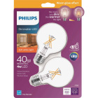 Philips Warm Glow 40W Equivalent Soft White G25 Medium Dimmable LED Decorative Globe Light Bulb (2-Pack) Image 1