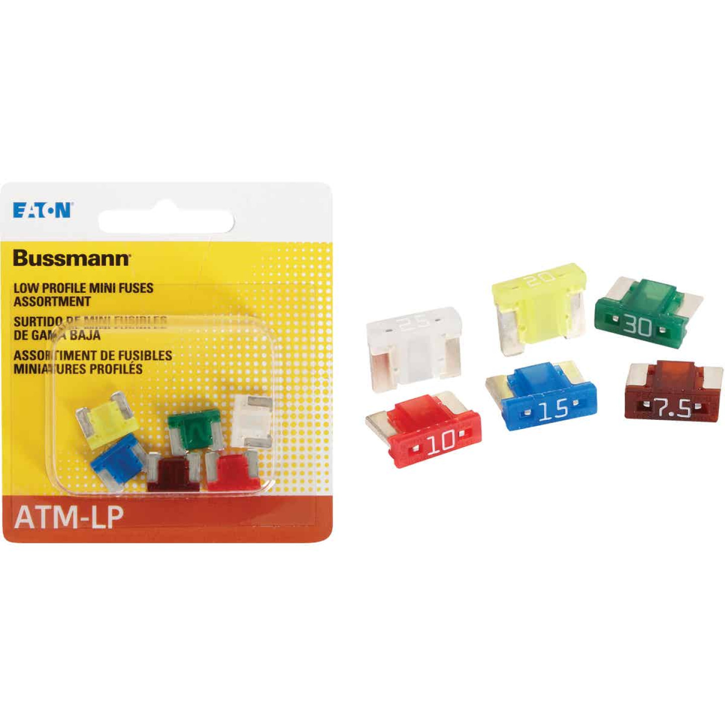 Bussmann ATM Low Profile Mini Fuse Assortment (6-Piece) Image 1
