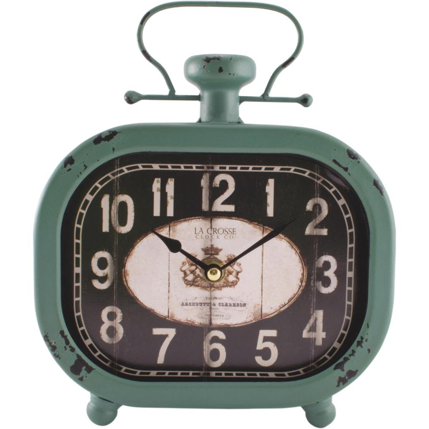 La Crosse Clock Analog Metal Battery Operated Clock Image 1