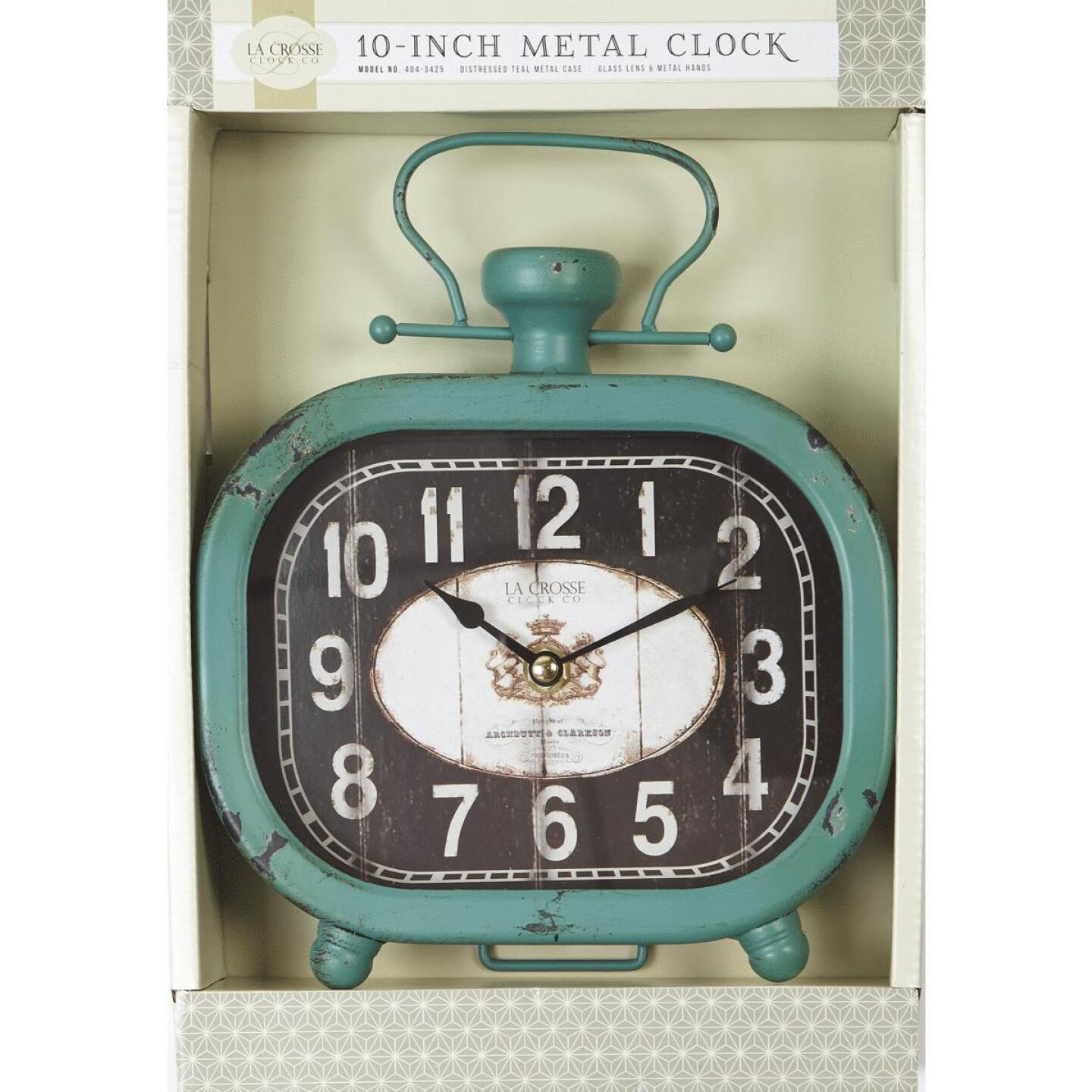 La Crosse Clock Analog Metal Battery Operated Clock Image 2