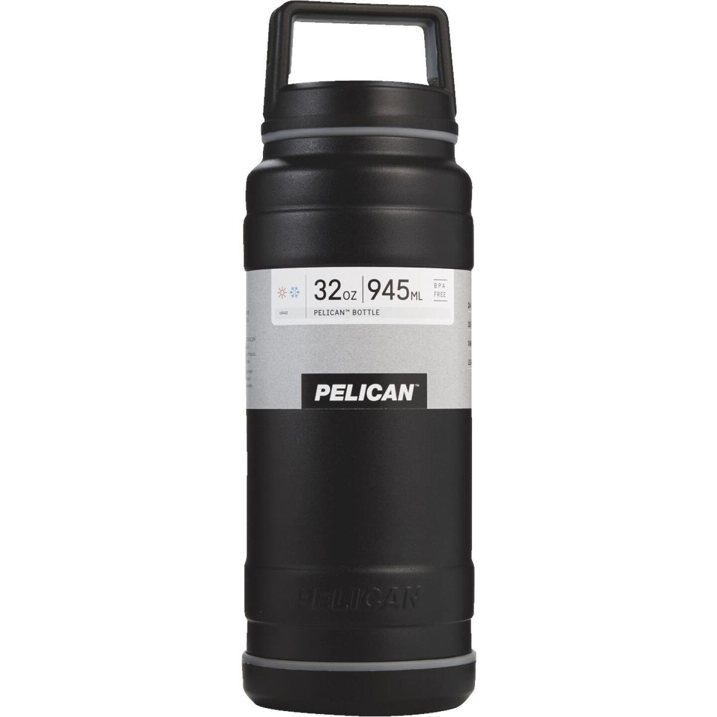 Pelican 32 Oz. Black Stainless Steel Travel Bottle Image 1
