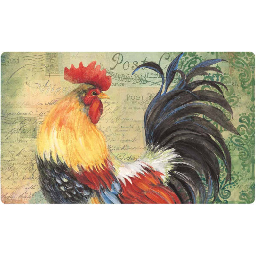 Mohawk Home 18 In. x 30 In. Colorful Rooster Kitchen Anti-Fatigue Mat