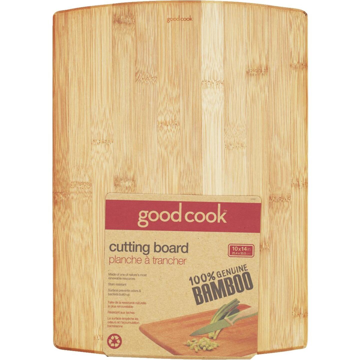 Goodcook 10 In. x 14 In. Bamboo Cutting Board Image 1