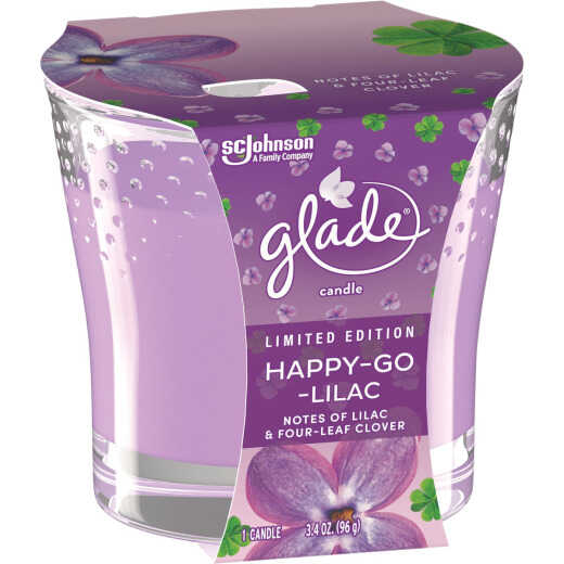 Glade 3.4 Oz. Happy-Go-Lilac Candle