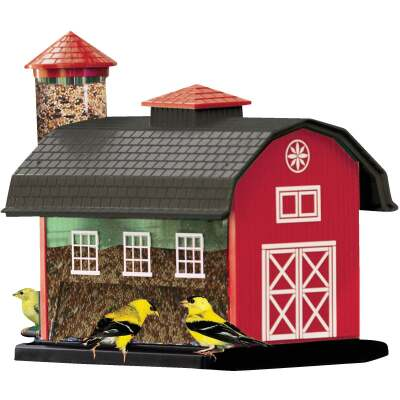 Cherry Valley 12-2/3 In. 7 Lb. Capacity Red Barn Finch Thistle Combo Feeder