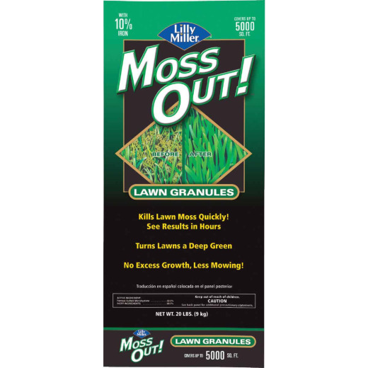Lilly Miller MOSS OUT! 20 Lb. Ready To Use Granules Moss & Algae Killer