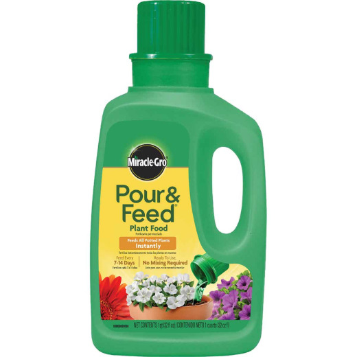 Miracle-Gro 32 Oz. 0.02-0.02-0.02 Ready To Use Liquid Plant Food