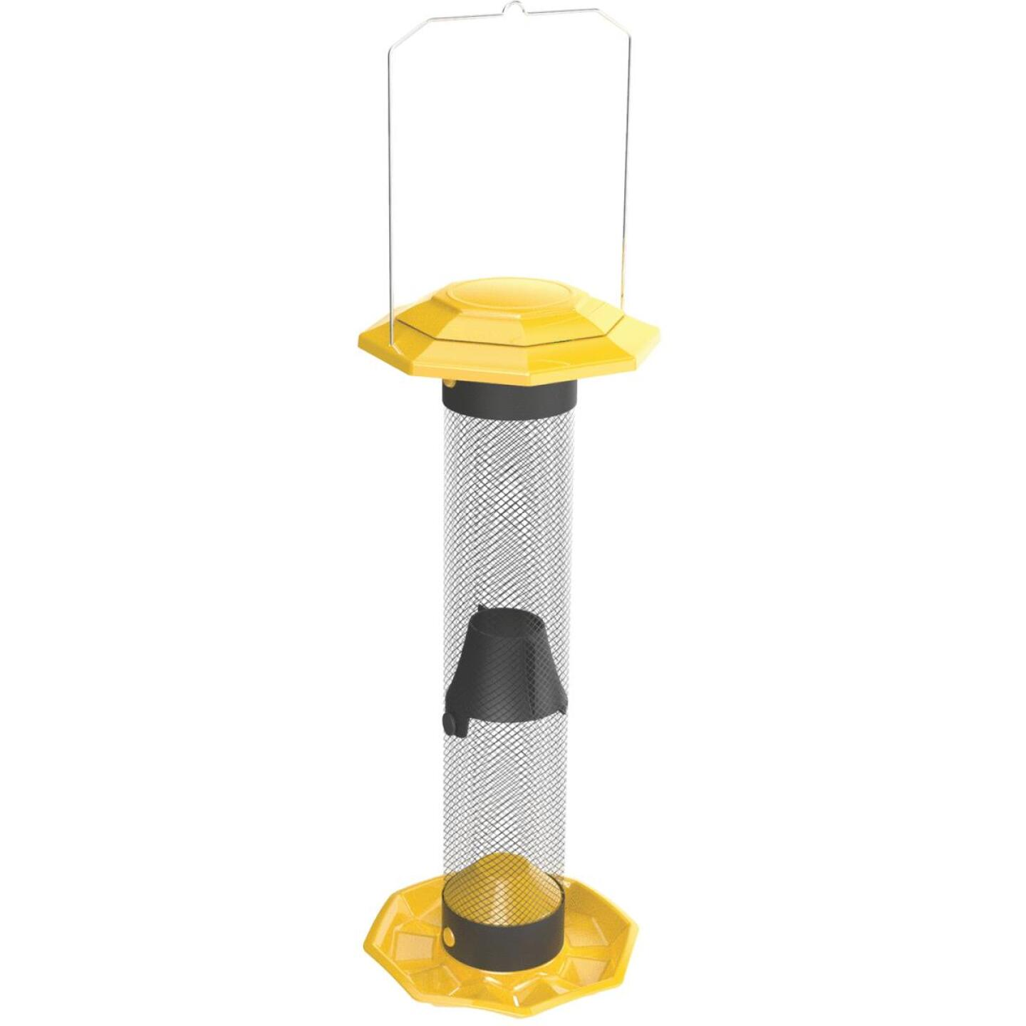 Nature's Way Funnel Flip Top Yellow Mesh Tube Finch Bird Feeder Image 1