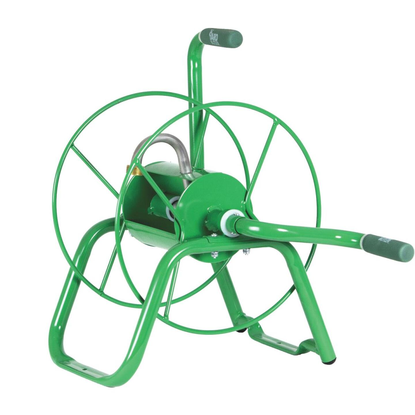 Yard Butler Handy Reel 75 Ft. x 5/8 In. Green Steel Hose Reel Image 1