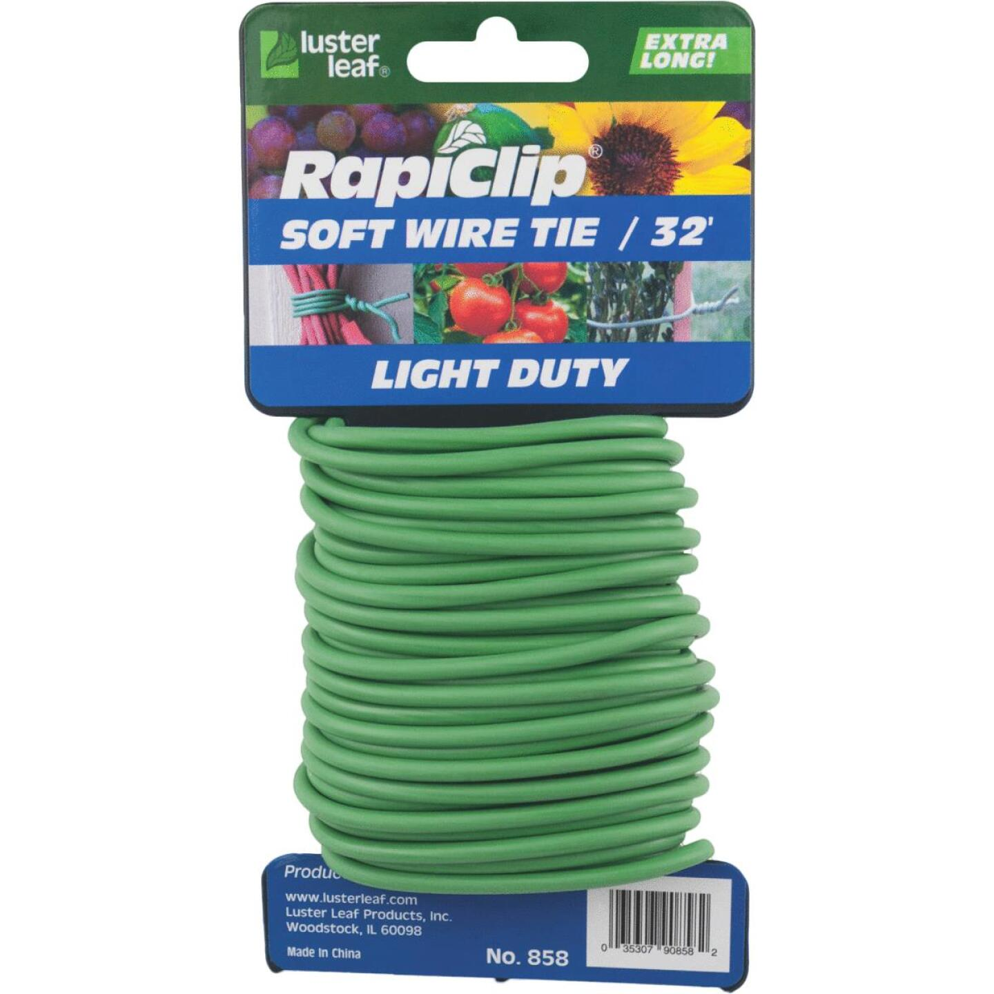 Rapiclip 32 Ft. Green Soft Wire Plant Tie Image 1