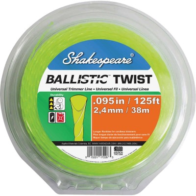 Shakespeare 0.095 In. x 125 Ft. Ballistic Twist Universal Trimmer Line