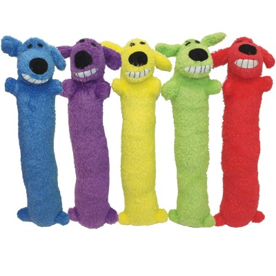 Multipet Loofa Dog 6 In. Plush Squeaky Dog Toy