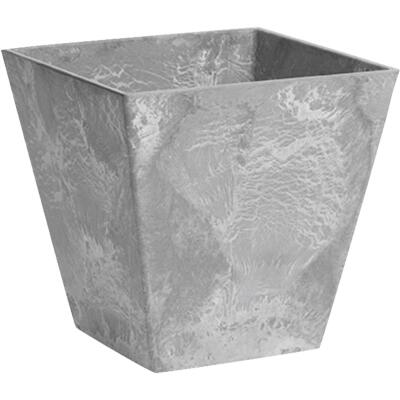 Novelty ArtStone Ella 8 In. W. x 8 In. H. x 8 In. L. Gray Resin Planter