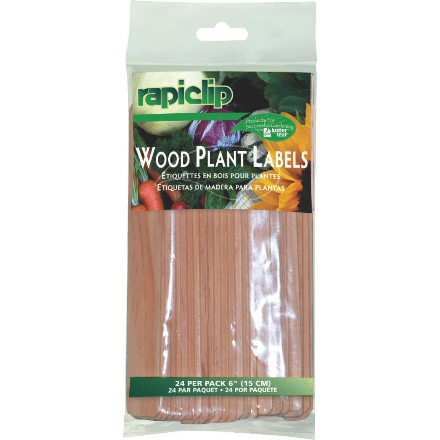 Rapiclip 6 In. Wood Garden Marker & Plant Label (24-Pack) Image 1