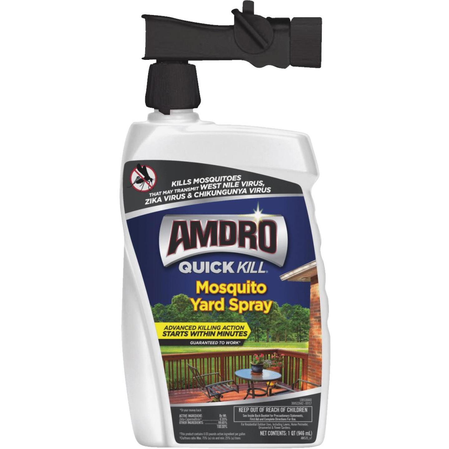 Amdro Quick Kill 32 Oz. Ready To Spray Hose End Mosquito Killer Yard Spray Image 1
