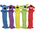 Multipet Loofa Dog 12 In. Plush Squeaky Dog Toy Image 1