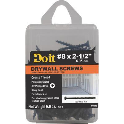 Do it #8 x 2-1/2 In. Coarse Thread Phosphate Drywall Screw