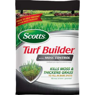 Scotts Turf Builder with Moss Control 25 Lb. 5000 Sq. Ft. 23-0-3 Lawn Fertilizer