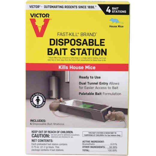 Victor Fast-Kill Disposable Mouse Bait Station (4-Pack)