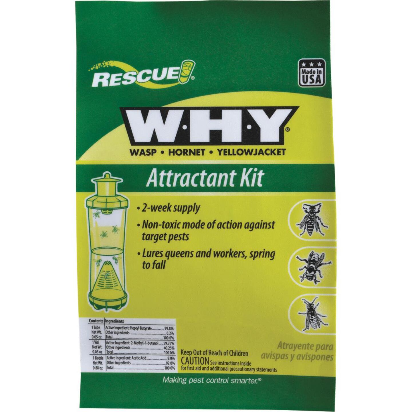 Rescue WHY Liquid Outdoor Wasp, Hornet, & Yellow Jacket Attractant Kit Image 1