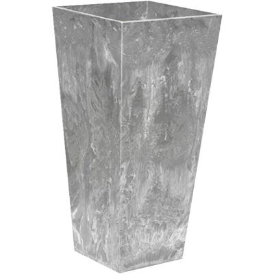 Novelty ArtStone Ella 7 In. W. x 19.5 In. H. x 7 In. L. Gray Resin Planter