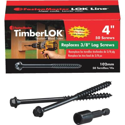 Fastenmaster Timberlok 4 In. Countersunk Hex Washer Structure Screw (50 Ct.)