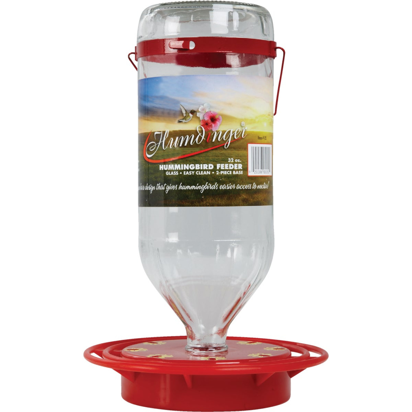 Humdinger 32 Oz. Glass Hummingbird Feeder Image 2