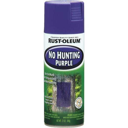 Rust-Oleum No Hunting Purple 12 Oz. Flat Spray Paint, Purple