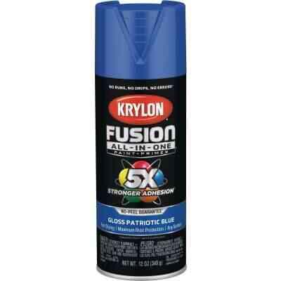 Krylon Fusion All-In-One Gloss Spray Paint & Primer, Patriotic Blue