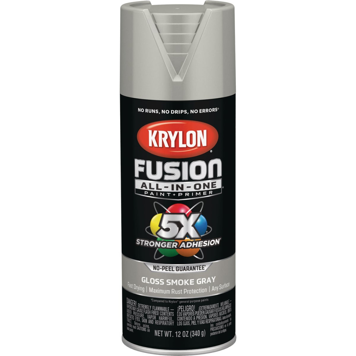 Krylon Fusion All-In-One Gloss Spray Paint & Primer, Smoke Gray Image 1