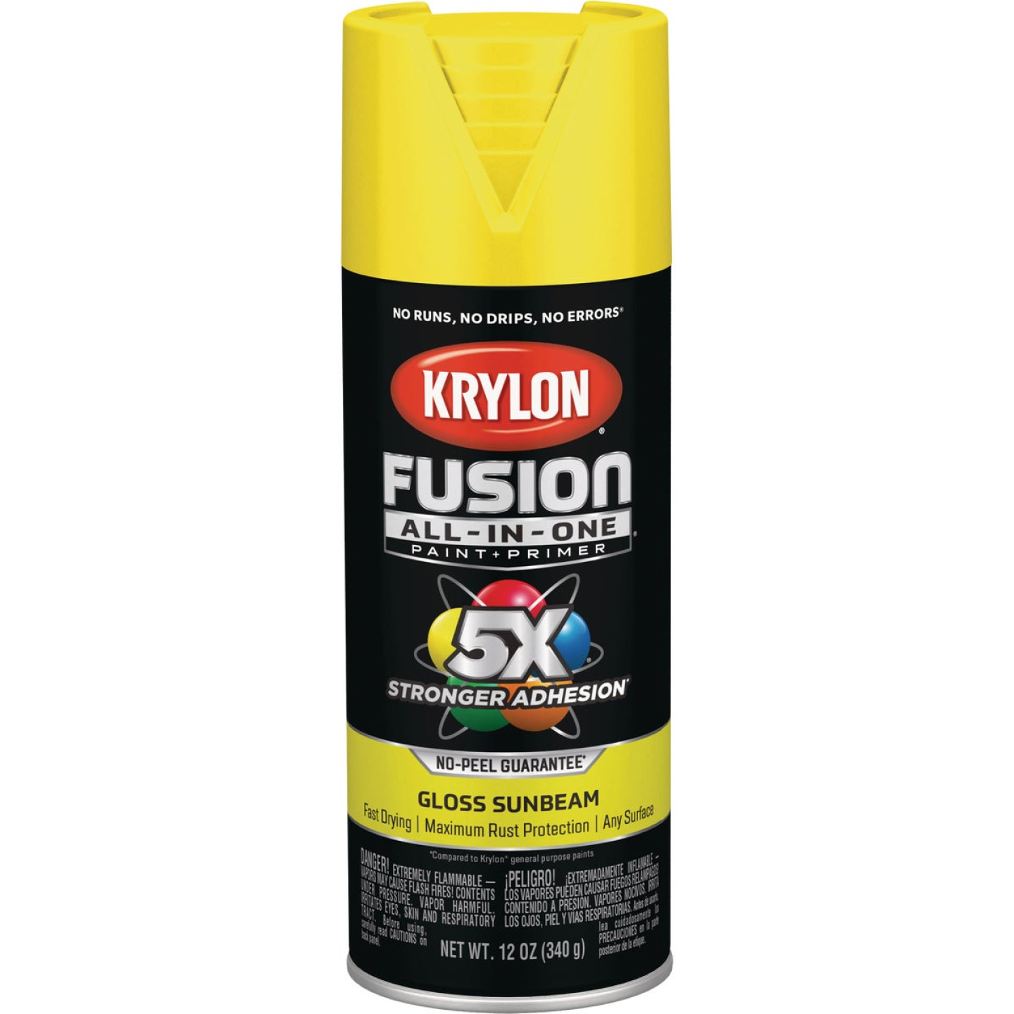 Krylon Fusion All-In-One Gloss Spray Paint & Primer, Sunbeam Image 1