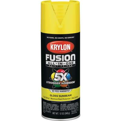 Krylon Fusion All-In-One Gloss Spray Paint & Primer, Sunbeam