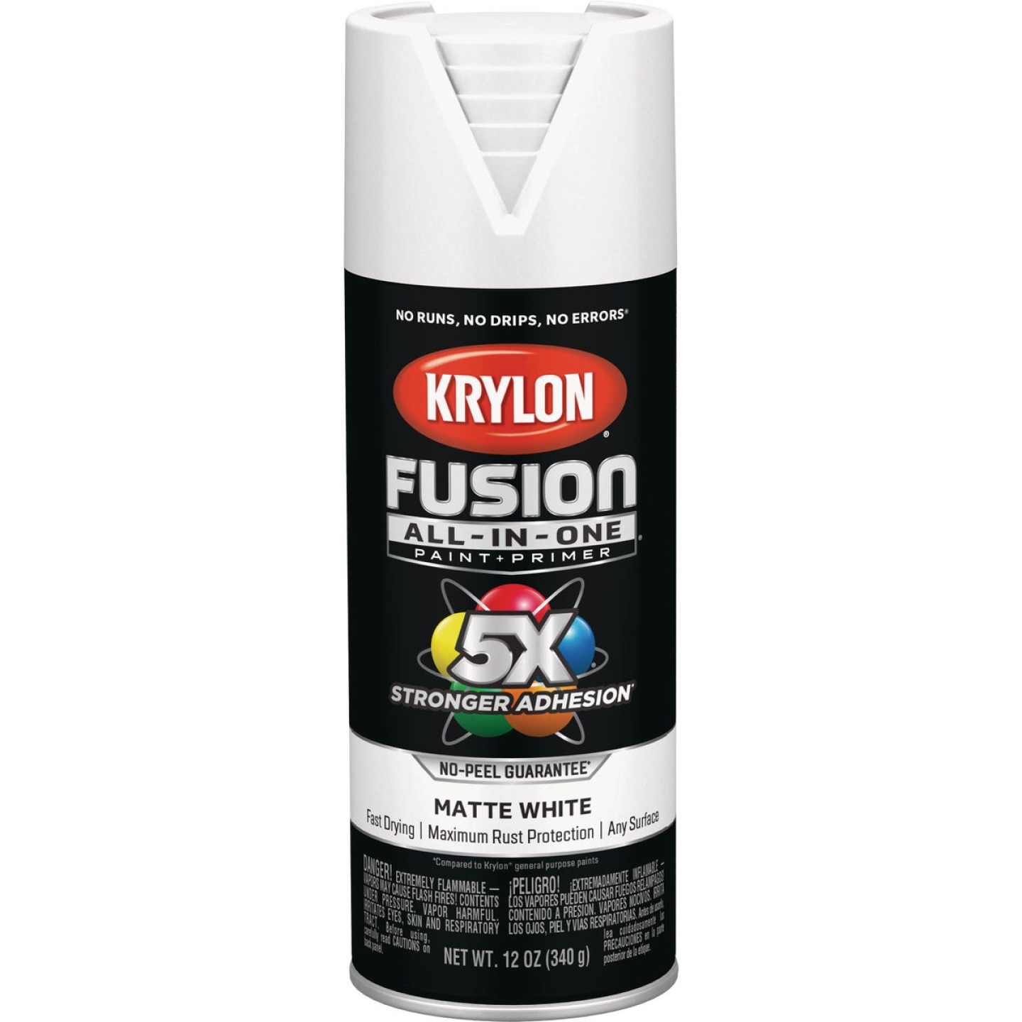 Krylon Fusion All-In-One Matte Spray Paint & Primer, White Image 1