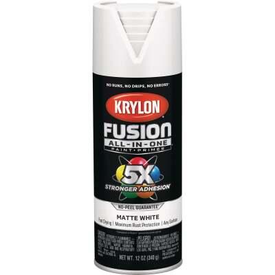 Krylon Fusion All-In-One Matte Spray Paint & Primer, White
