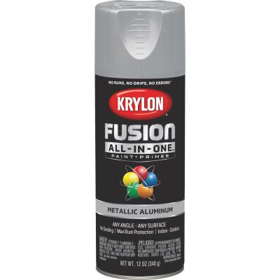 Krylon Fusion All-In-One Metallic Spray Paint & Primer, Aluminum