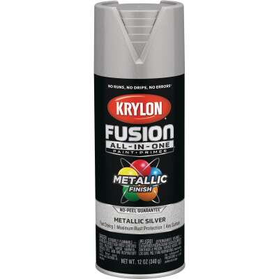 Krylon Fusion All-In-One Metallic Spray Paint & Primer, Silver