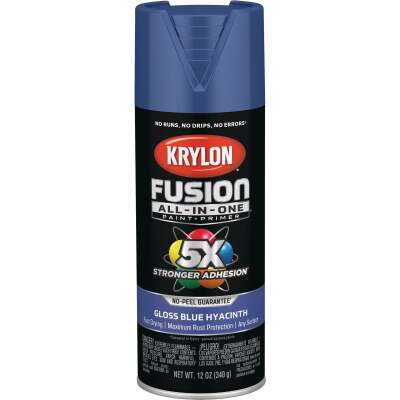 Krylon Fusion All-In-One Gloss Spray Paint & Primer, Hyacinth Blue