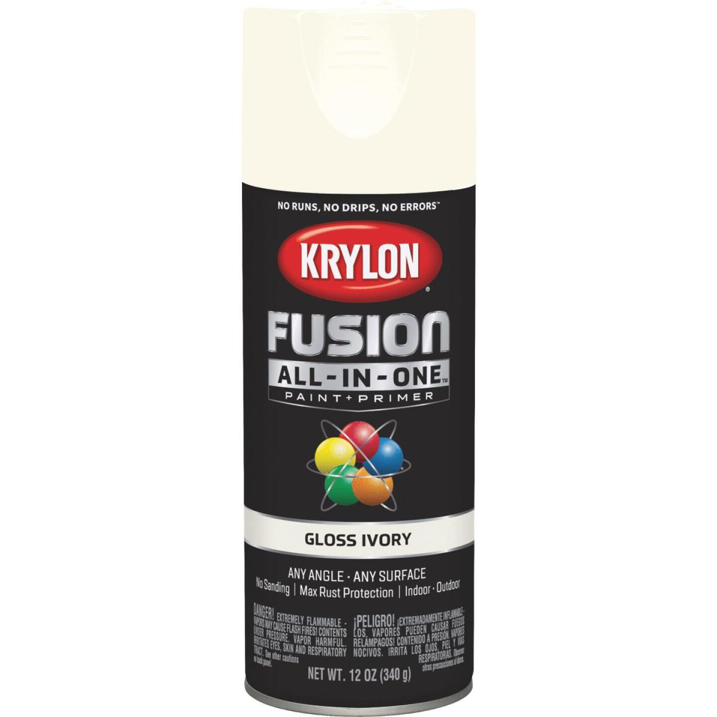 Krylon Fusion All-In-One Gloss Spray Paint & Primer, Ivory Image 1