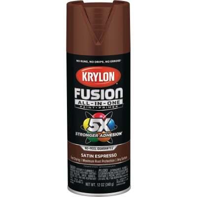 Krylon Fusion All-In-One Satin Spray Paint & Primer, Espresso
