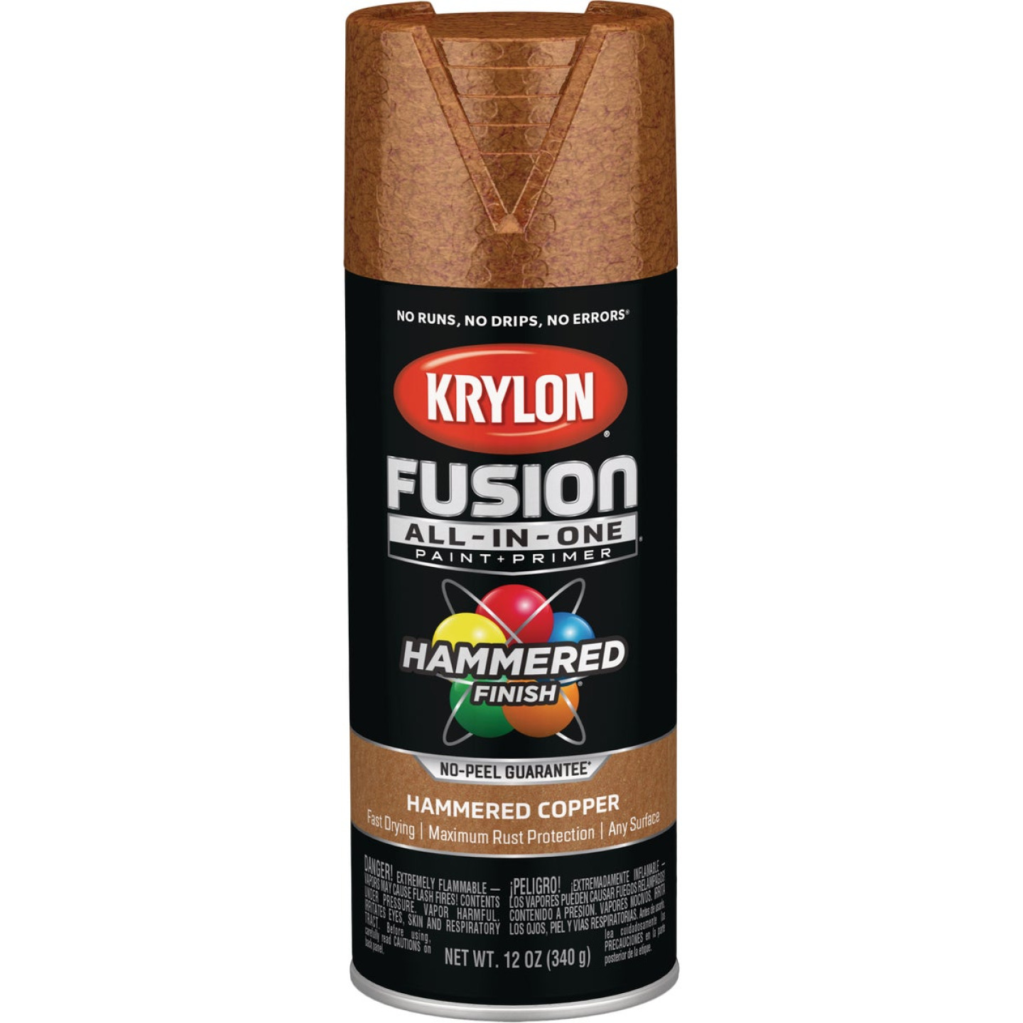 Krylon Fusion All-In-One Hammered Spray Paint & Primer, Copper Image 1