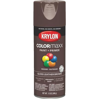 Krylon ColorMaxx 12 Oz. Gloss Spray Paint, Leather Brown