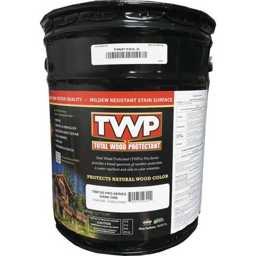 TWP100 Pro Series Semi-Transparent Wood Protectant Deck Stain, Dark Oak, 5 Gal.