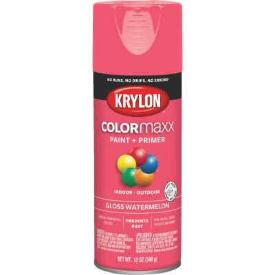 Krylon ColorMaxx 12 Oz. Gloss Spray Paint, Watermelon