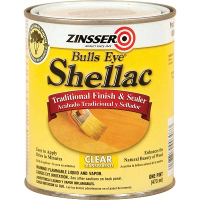 Zinsser Bulls Eye Clear Shellac, Quart